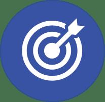 Slide 68 bullseye icon blue