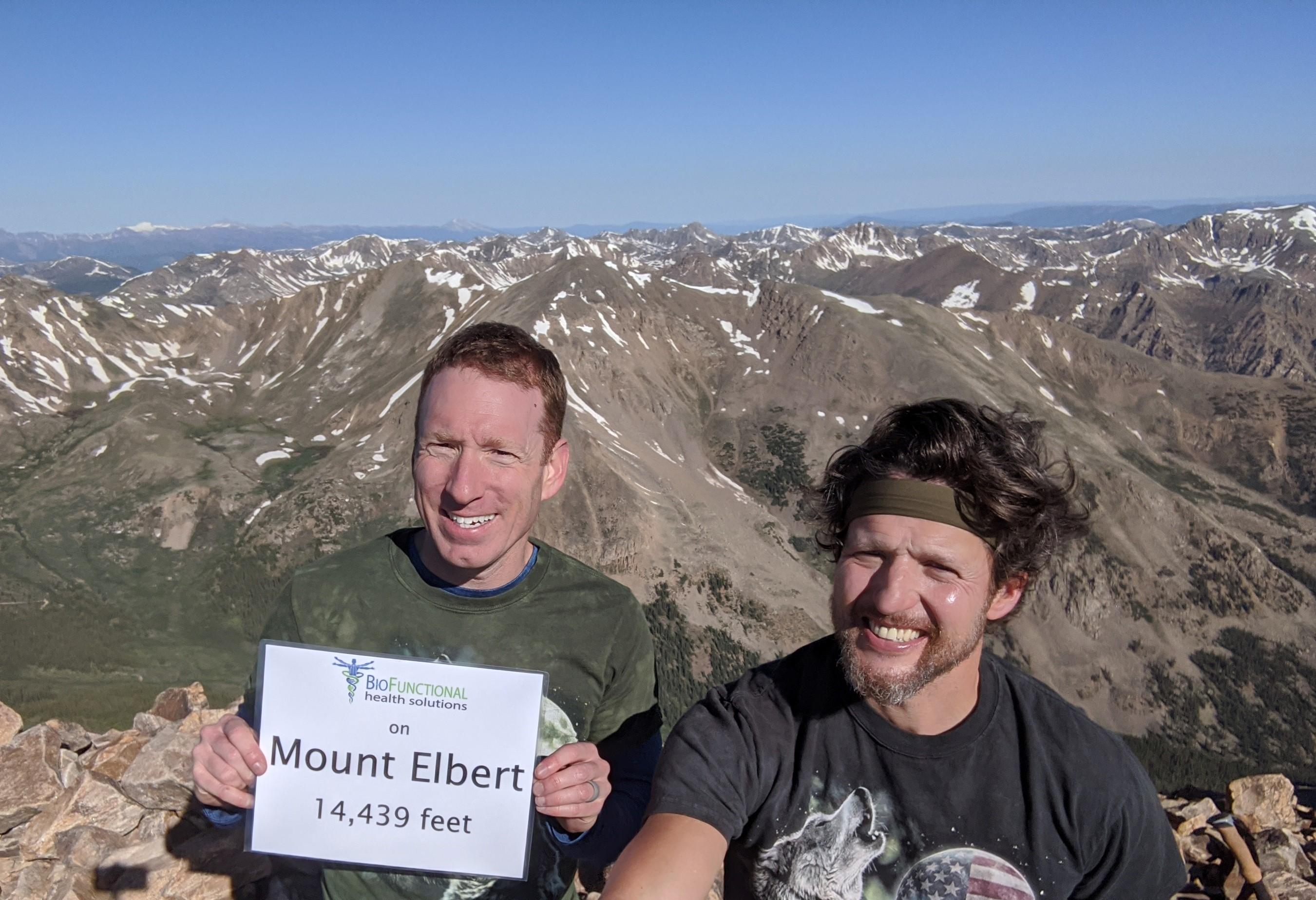 Mark Fretta + Brent Kruel on top of Mount Elbert
